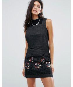 Anna Sui | Джинсовое Платье С Аппликацией Pansy