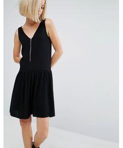 Moss Copenhagen   Короткое Приталенное Платье С Молнией