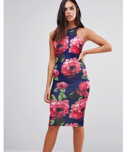 AX Paris | Облегающее Платье Миди С Цветочным Принтом
