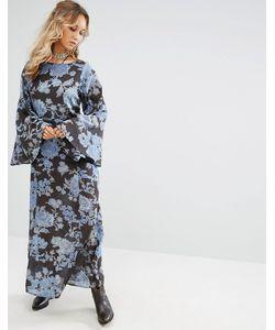Free People   Платье Макси С Цветочным Принтом Melrose