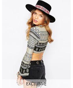 Catarzi | Шляпа С Широкими Полями И Вышивкой Matador
