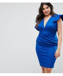 Club L | Облегающее Платье С V-Образным Вырезом И Оборками Plus