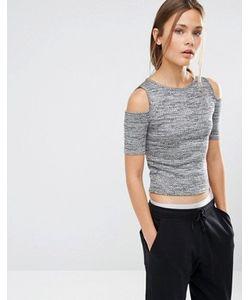 New Look | Меланжевый Топ С Открытыми Плечами