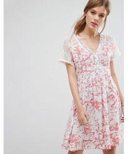 Suncoo   Платье Мини С Принтом