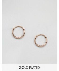 Pilgrim | Серьги-Кольца С Покрытием Из Розового Золота