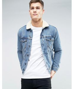 New Look | Выбеленная Джинсовая Куртка С Воротником Из Искусственного Меха