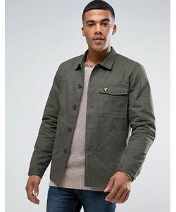 Lyle&Scott | Куртка-Рубашка В Стиле Милитари Зеленого Цвета С Орлом Lyle Scott