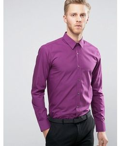 Hugo   Поплиновая Рубашка Узкого Кроя By Boss Elisha