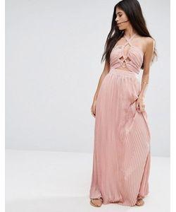 Pixie & Diamond | Короткое Приталенное Платье С Завязкой На Шее И Вырезами Pixie