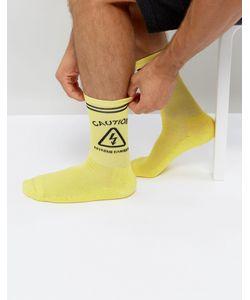 Granted   Желтые Носки С Рисунком