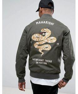 Maharishi   Сувенирная Куртка С Вышивкой