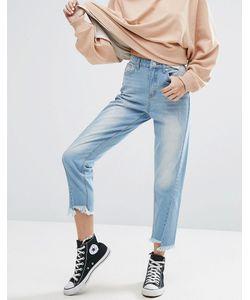 boohoo | Step Hem Seam Detail Mom Jeans