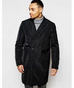 Asos | Черное Двубортное Пальто