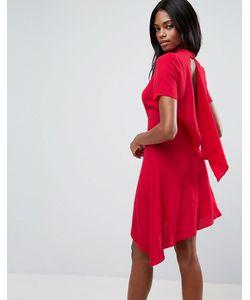 Asos | Короткое Чайное Платье С Открытой Спиной