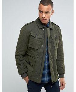 Esprit | Куртка В Стиле Милитари Со Стеганой Отделкой