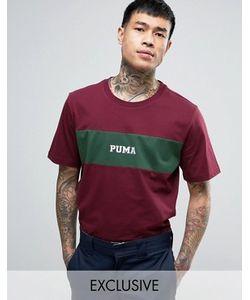 Puma | Бордовая Футболка Со Вставкой 57531102 Эксклюзивно Для