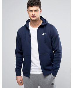 Nike | Худи Темно-Синего Цвета На Молнии Club 804389-451