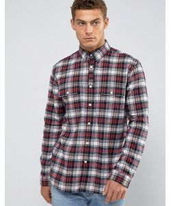 Jack Wills | Черная Фланелевая Рубашка С Принтом Тартан Salcombe