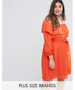 Lovedrobe | Платье С Открытыми Плечами И Оборками