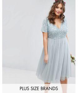 Lovedrobe Luxe | Платье Миди С Отстегивающейся Тюлевой Юбкой И Пайетками Lovedrobe