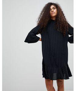 b.young | Платье С Принтом И Оборкой По Краю