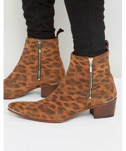 Jeffery west | Ботинки На Молнии С Леопардовым Принтом Sylvian
