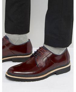 Ted Baker | Бордовые Кожаные Туфли Дерби Oktibr