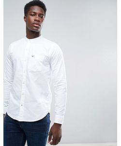 Hollister | Оксфордская Рубашка Узкого Кроя С Воротником-Стойкой