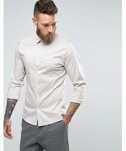 Hoxton Shirt Company | Строгая Рубашка Узкого Кроя Из Эластичного Поплина