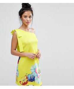 ASOS PETITE | Платье Мини На Одно Плечо С Цветочным Принтом
