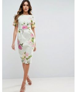 Asos | Облегающее Платье С Цветочным Принтом