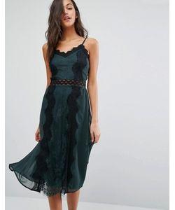 Miss Selfridge | Платье На Бретельках С Кружевными Вставками