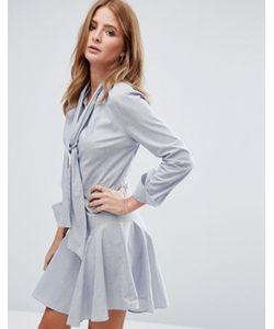Millie Mackintosh | Платье-Рубашка Мини С Бантом