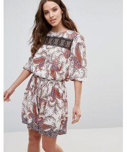 Vero Moda | Платье С Заниженной Талией И Кружевной Вставкой Karin