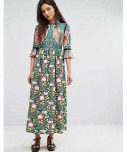 Comino Couture | Платье Макси С Фламинго