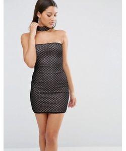 MISSGUIDED | Сетчатое Облегающее Платье С Чокером