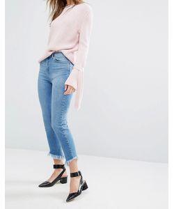 Miss Selfridge | Frayed Angle Hem Jeans