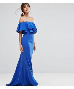 JARLO | Платье Макси С Открытыми Плечами И Рюшами