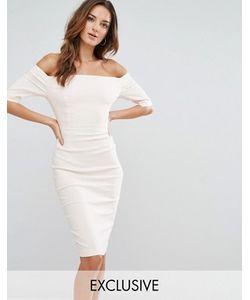 Vesper | Платье-Футляр С Открытыми Плечами И Вставками
