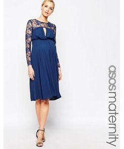 ASOS Maternity | Платье Миди Для Беременных С Кружевными Рукавами Kate
