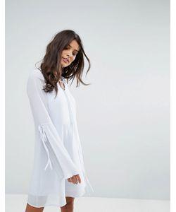 Vero Moda   Чайное Платье С Плиссированными Рукавами Клеш