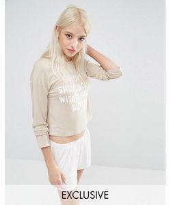 Adolescent Clothing | Пижамные Кроп-Топ И Шорты С Принтом Pause Sunday