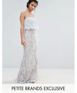 Jarlo Petite | Кружевное Платье-Бандо Макси