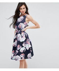 Y.A.S Tall | Плиссированное Платье Миди С Цветочным Принтом Для Выпускного Y.A.S Studio Tall