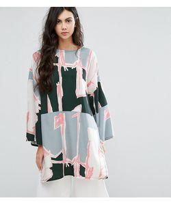 Waven Tall | Платье-Туника В Стиле Oversize С Графическим Принтом