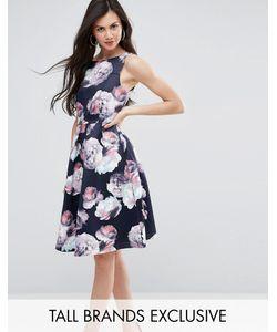 Y.A.S Tall   Плиссированное Платье Миди С Цветочным Принтом Для Выпускного Y.A.S Studio Tall
