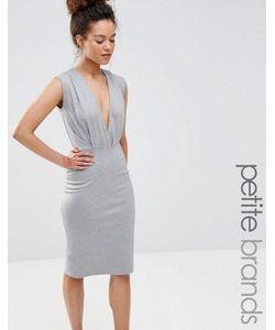 Alter Petite | Платье-Футляр Длины Миди С V-Образным Вырезом