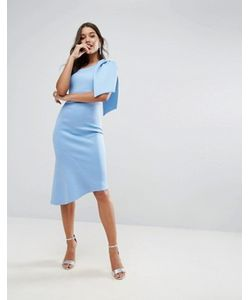 Asos | Платье Миди На Одно Плечо С Баской И Бантом Premium