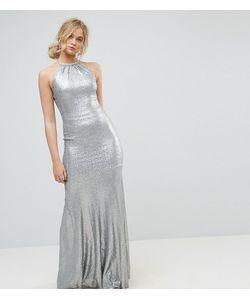 TFNC Tall | Платье Макси С Отделкой Пайетками И Бретельками На Спине