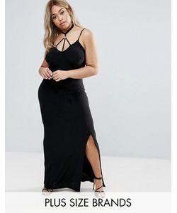 Club L Plus | Платье Макси С Отделкой В Восточном Стиле